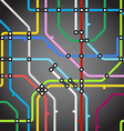 Abstract background of metro scheme vector image vector image