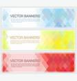 abstract geometric mosaic horizontal banners vector image