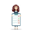 woman with a clipboard vector image