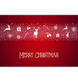 Christmas pattern border composition vector image vector image