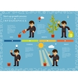 Creative Business Timeline Infographics Design vector image