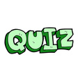 comic cartoon quiz sign vector image
