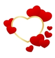 heart frame isolated vector image vector image