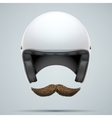 Motorcyclist symbol with mustache vector image