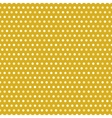 Gold seamless pattern with white dots vector image