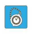 blue pocket watch icon image vector image
