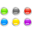 Cut down button vector image