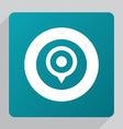 flat map pin icon vector image