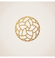 Geometric round Eastern star logo circular vector image