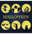 Halloween symbols collection vector image