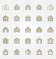 house colorful icons vector image