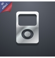 Portable musical player icon symbol 3D style vector image
