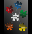 Puzzle teamwork vector image