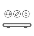 smart scale weight fat bones water icons vector image