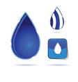 water drop color vector image