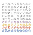 100 icons set vector image