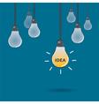 idea light bulb vector image