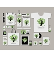 Corporate flat identity mock-up template for your vector image