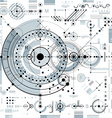 Future technology drawing industrial wallpaper vector image