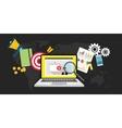 online video marketing vector image