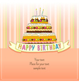 Birhday cake Card vector image