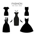 black dress set vector image
