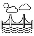bridgesan francisco line icon sign vector image