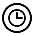 Clock flat black color rounded icon vector image