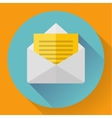 Envelope with paper sheet - flat style concept of vector image