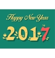 Happy New Year 2017 Numerals with floral decor vector image