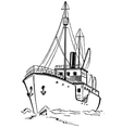 Old icebreaker vector image