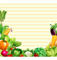Paper design with vegetables and fruits vector image