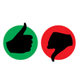 thumb up thumb down icon silhouette vector image