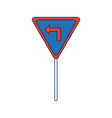traffic signal information with arrow icon vector image