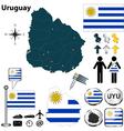 Uruguay map vector image