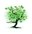 art green tree vector image