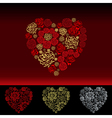 Valentines Day Card with flowers hearts vector image
