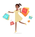 Woman Shopping Lady Carries Paper Bags Hot Sale vector image
