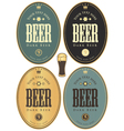 set beer dark vector image vector image