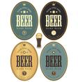 set beer dark vector image