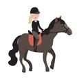 Young girl parade rider vector image
