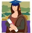 Mona Lisa graduate vector image