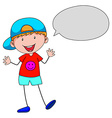 Boy talking vector image vector image