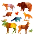 Watercolor Animals Set vector image vector image