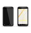 smart phone with map vector image vector image