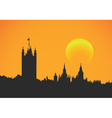 Sunset at Westminster vector image