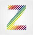 Alphabet Letter Z vector image
