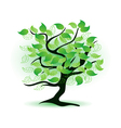 art green tree vector image