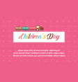 background children day style collection vector image