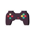 gamepad isolated joystick on white background vector image